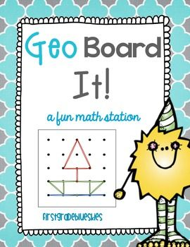 Geoboards are a great way to explore geometric shapes, properties of plane shapes, and open/closed identification.  This pack includes a wealth of resources for you to have a geoboard station in your classroom, allowing you to meet Common Core Geometry Standards.