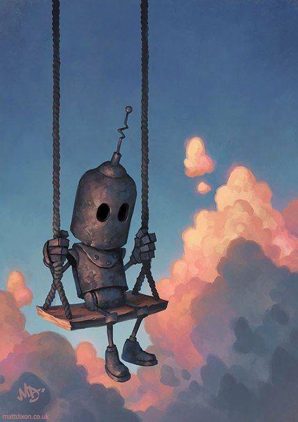 Маленький робот :) робот, арт, Детство, длиннопост