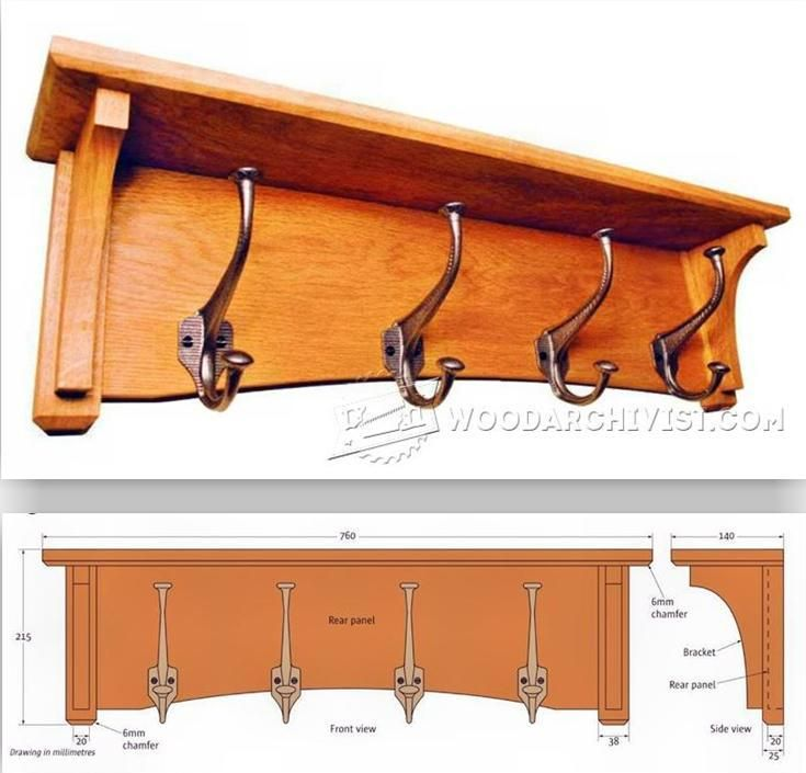 Coat Rack Plans - Furniture Plans and Projects - Woodwork, Woodworking,  Woodworking Plans, Woodworking Projects