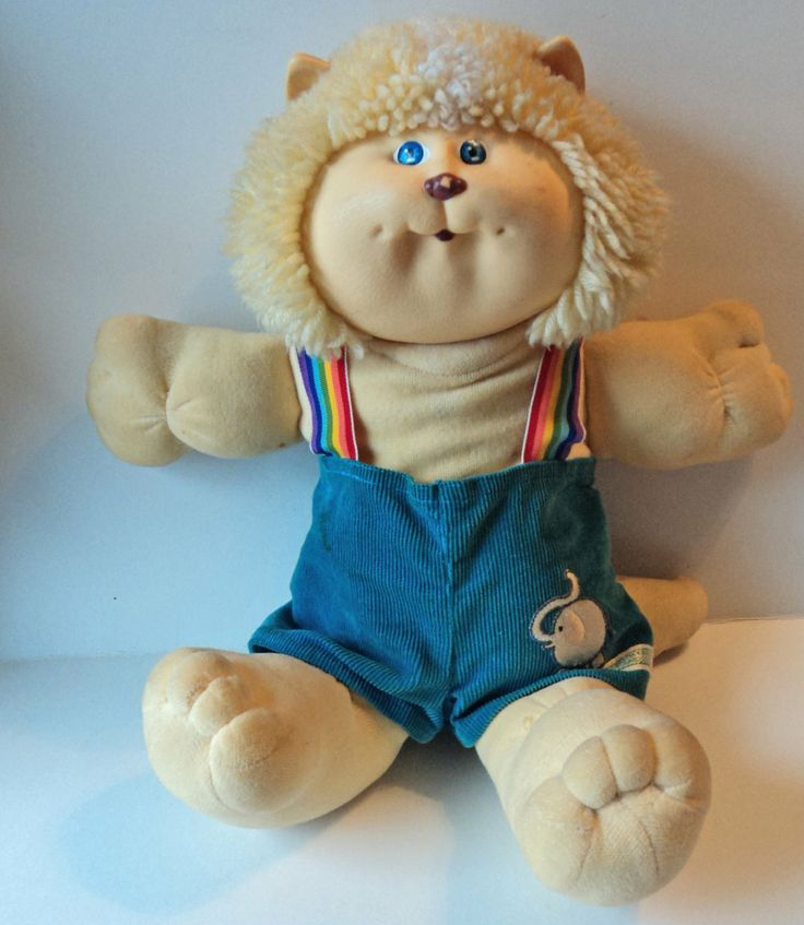 Cabbage Patch Kids Cat Koosas Stuffed Animal Plush Toy 1980s