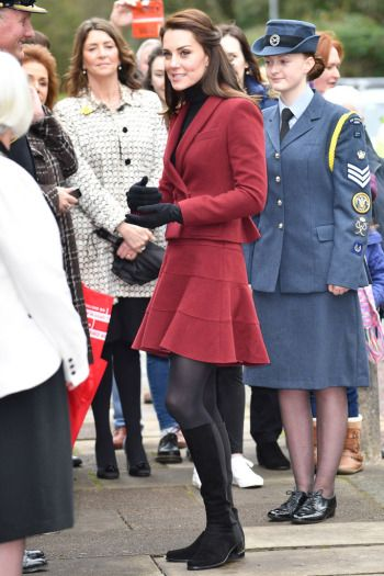 Kate Middleton's BestLooks  Kate Middleton wearing black Russell & Bromley boots.