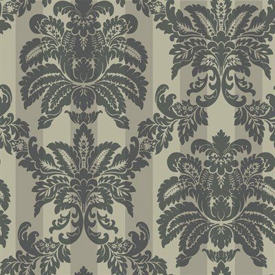 Blue Mountain Black and Metallic Strippable Paper Prepasted Wallpaper