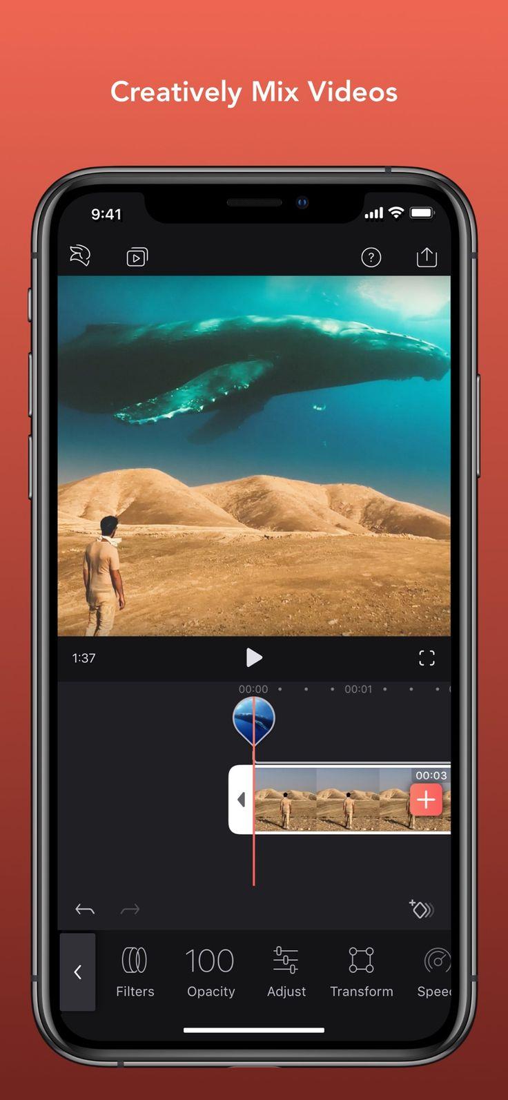 Enlight videoleap video editor combine edit overlay