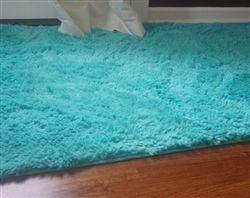 college plush rug caribbean ocean - Fuzzy Rugs
