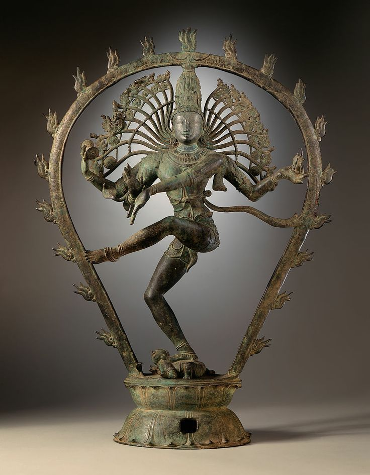 "ca. 950-1000. Nataraja the most famous subject in Chola period processional bronzes: Shiva as the Lord of Dance. 30"" x 22.5"" Hindu. dravidian art. Tamil Nadu, India. Copper Alloy LACMA"