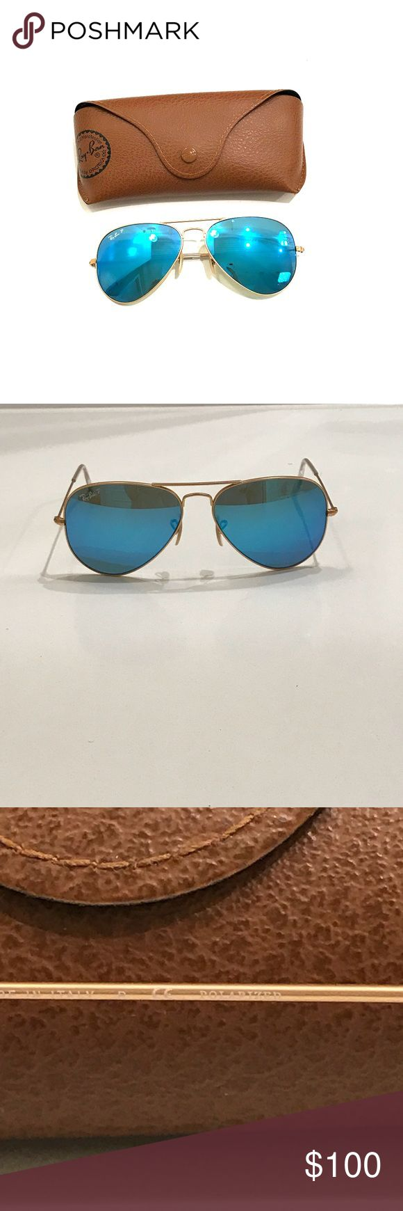 Ray Ban Polarized Blue Mirrored Aviators Polarized blue mirrored aviators by Ray Ban. Only worn a handful of times with. No scratches or imperfections. Ray-Ban Accessories Sunglasses