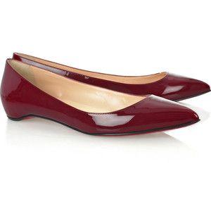 christian louboutin patent leather open-toe flats