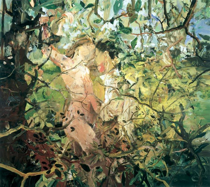 """Teenage Wildlife by Cecily Brown    """"Figures are the only thing that I've ever painted. I'm interested in the human need or desire to represent itself. I'm fascinated with human narcissism and obsessions with bodies."""" -Cecily Brown"""