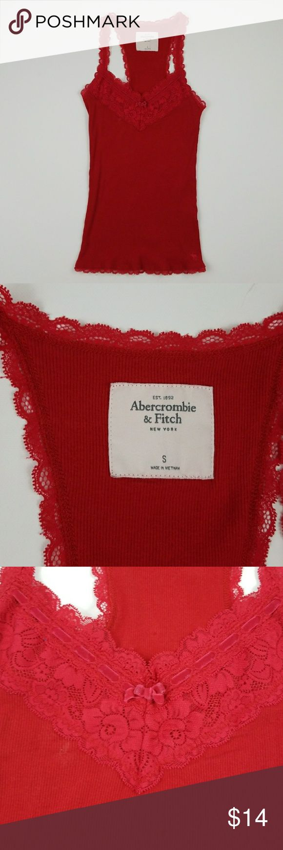Abercrombie and Fitch Tank Size small lacey red tank by Abercrombie and Fitch. Great condition. Abercrombie & Fitch Tops Tank Tops