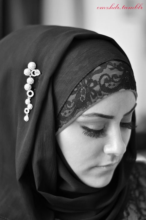 lace #hijab will try this the nest time i go out=D