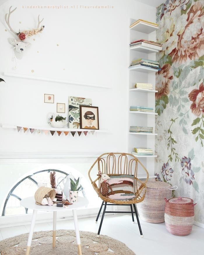 Kids' Room with Chic and Romantic Look http://petitandsmall.com/kids-room-chic-romantic-look/