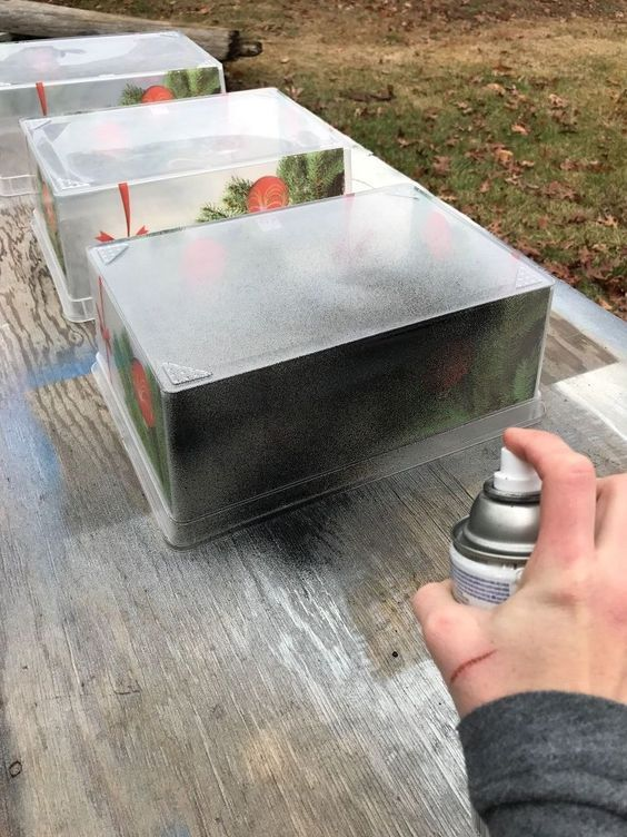 25 Best Ideas About Painting Plastic Bins On Pinterest