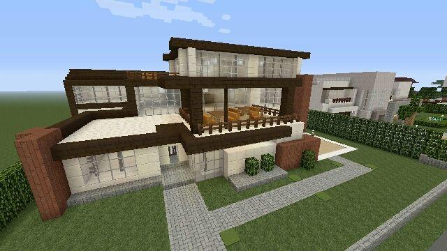 マイクラps4 街を作る26 三階建てモダンハウス マイクラ 建築
