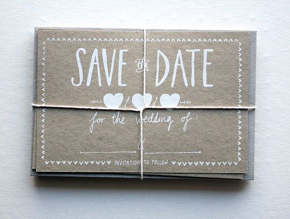 Save The Date cards / Designed by The Little Press / View on The LANE...