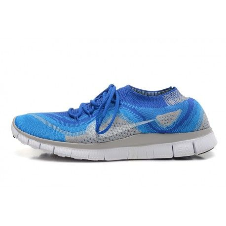 c83d2ac6 ... inexpensive nike free flyknit 5.0 couples shoes blue gray 88 f549a 2b926