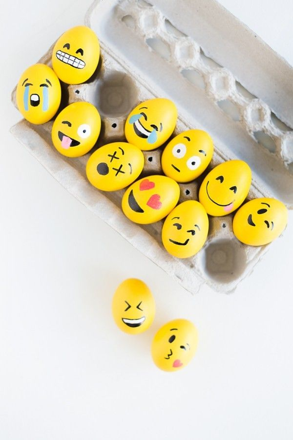 #DIY #Emoji Easter Eggs