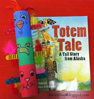 it's art day: Colorful Totem Poles