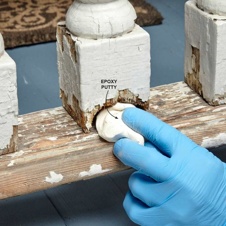 Replace Rotted Wood With Epoxy Putty - For small repairs, you can use the kind…