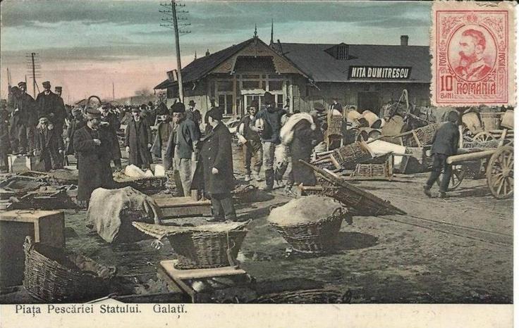Galati - Piata Pescariei - antebelica