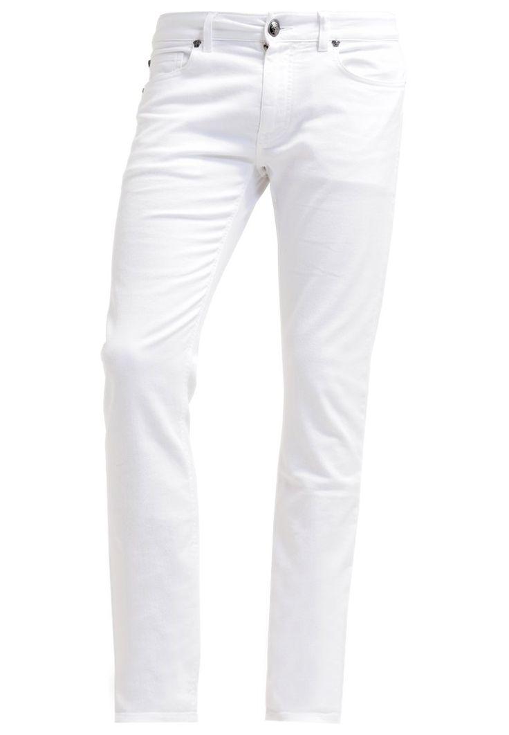 Versace Jeansy Slim fit bianco 1,759.00zł Materiał: 98% bawełna, 2% elastan #moda #fashion #men #mężczyzna #versace #jeansy #slim #fit #męskie#bianco #biały #white