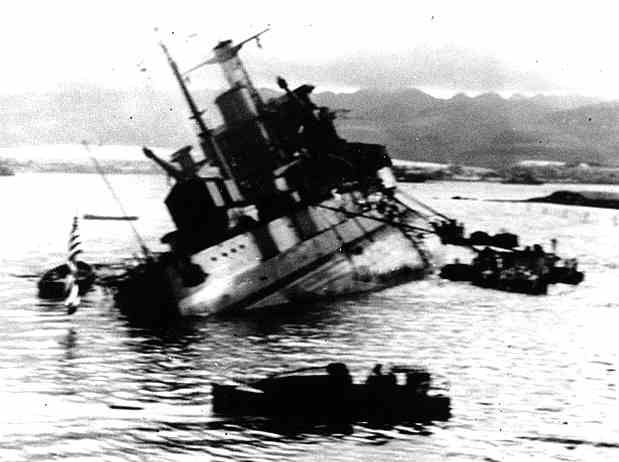 USS Utah took a torpedo hit and capsized early in the battle    The wreck remains at Pearl Harbor