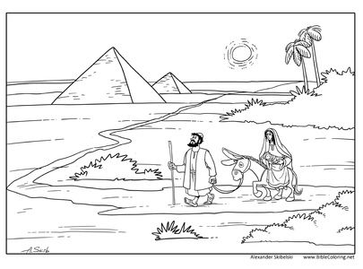 Christmas story. Joseph and Mary go to Egypt (Matthew 2:13
