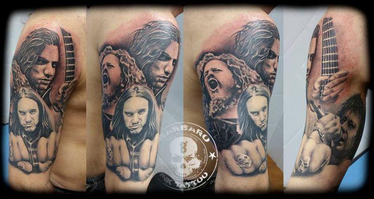 #tattoo #tattooist #tattooed #bestspaintattooartist #blackandgreytattoo #heavymetal #heavymetaltattoo #tributetattoo #dimebagdarrel #cliffburton #bonscott #chuckschuldiner #pantera #acdc #metallica #death