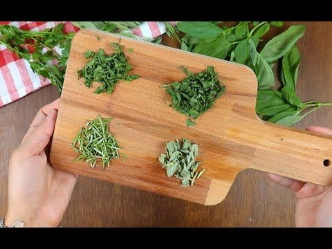 Come conservare le erbe aromatiche - YouTube