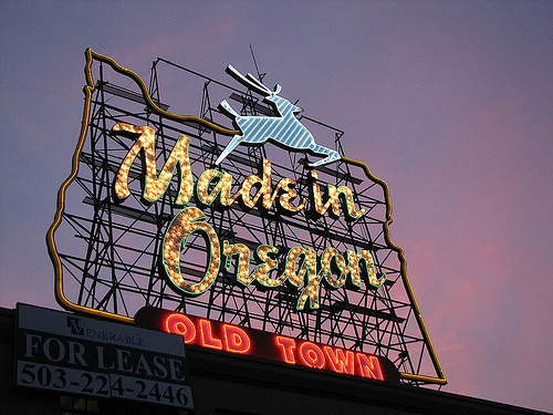 """The original Hirsch-Weiss """"White Stag"""" building.   It was designed and built in 1907 as a manufacturing and warehouse building for the Willamette Tent and Awning Company. Max A. Hirsch—nephew of Aaron Meier of Meier & Frank—was the president at the time."""