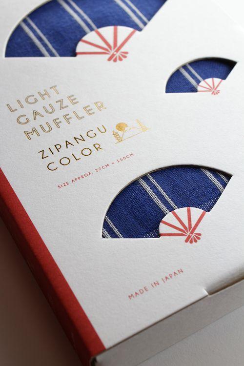 LIGHT GAUZE MUFFLER ZIPANGU COLOR