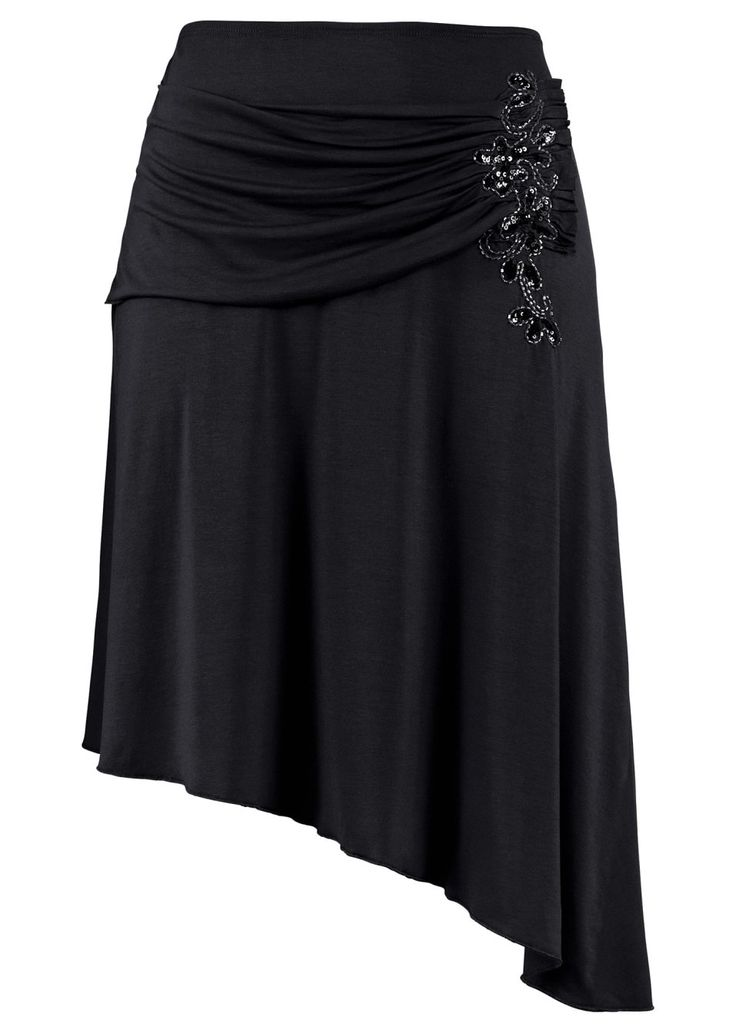 asymmetric skirt with a little beaded detail <3