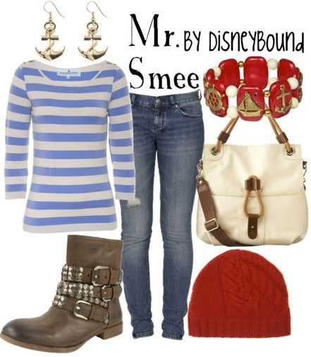 Disney character inspired outfits: Mr Smee ill-go-there-give-me-that-cute