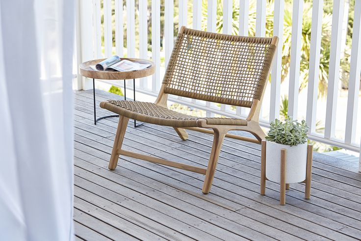 sienna occasional chair in weave