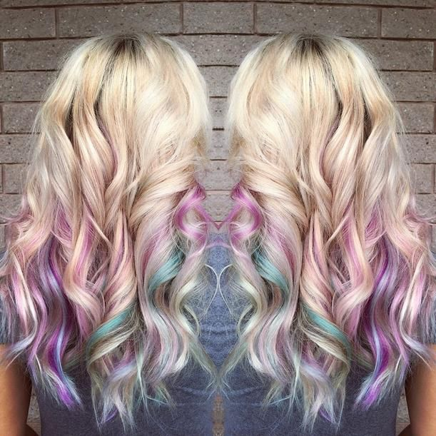 Love how hairdesignbyjuliet used #KenraColorCreative Purple and Teal to create this look!