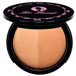 Too Faced - Sun Bunny Bronzer.  Not too shiny, not too matte.  Just right!