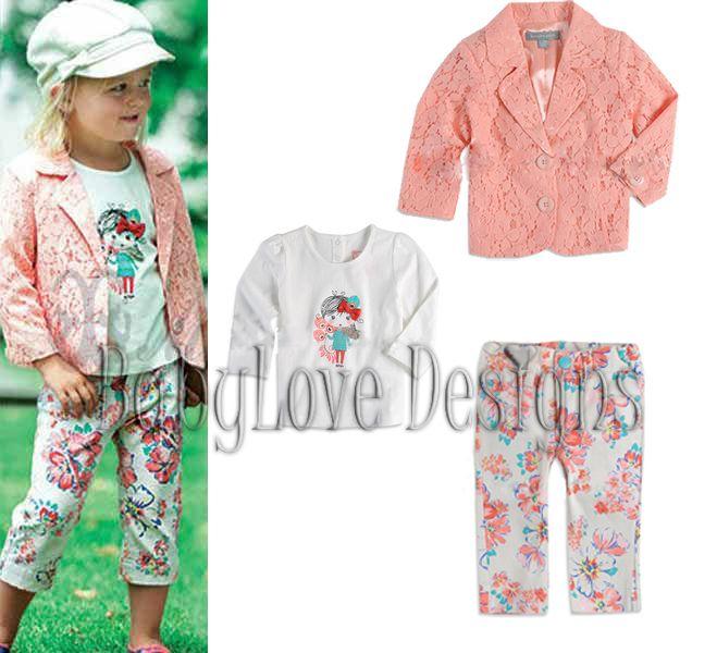 Girl's Floral 3 Piece Set $27 + P&H