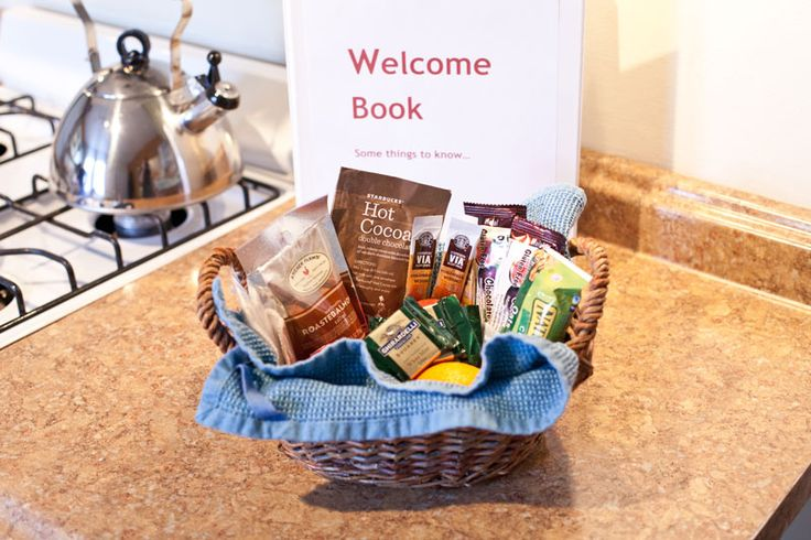 DIY hosting with a welcome basket                                                                                                                                                     More