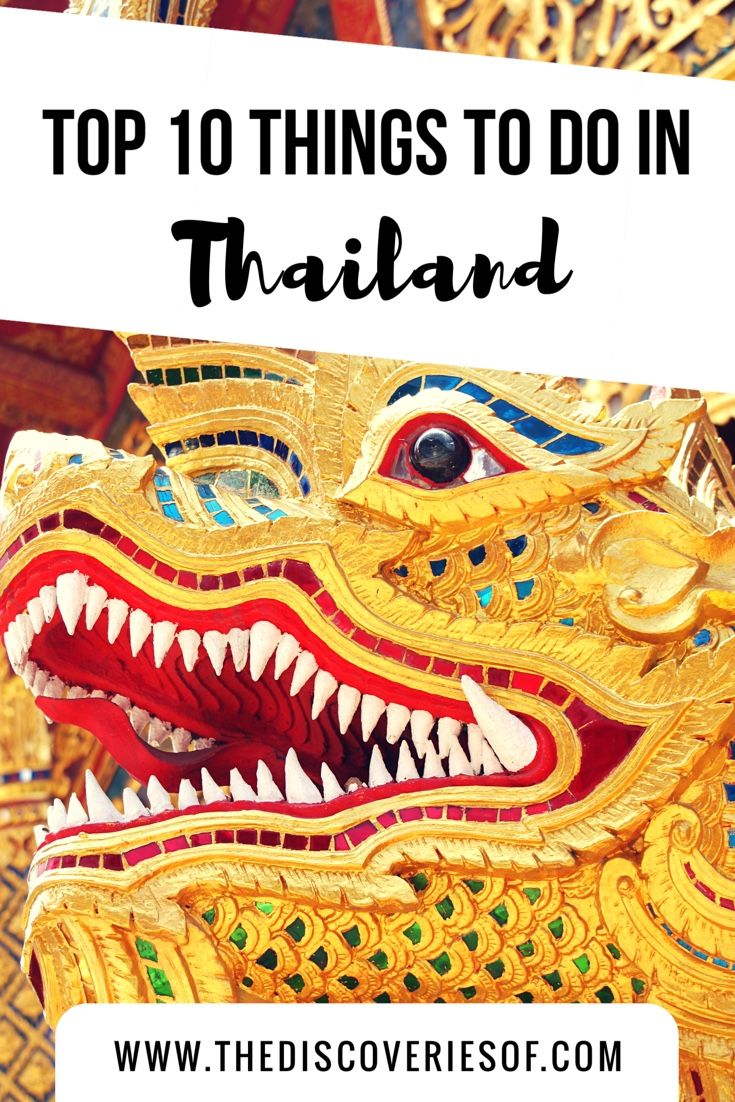 The top 10 things you shouldn't miss on your next trip to Thailand. How many have you been to?
