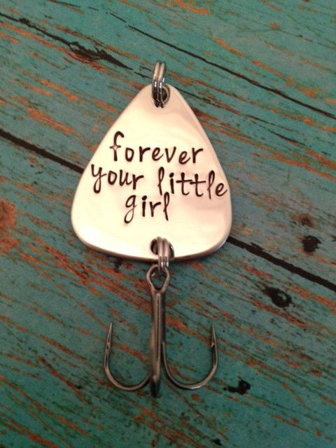 Forever your little girl Fishing Lure Hand by SilverLiningStamping