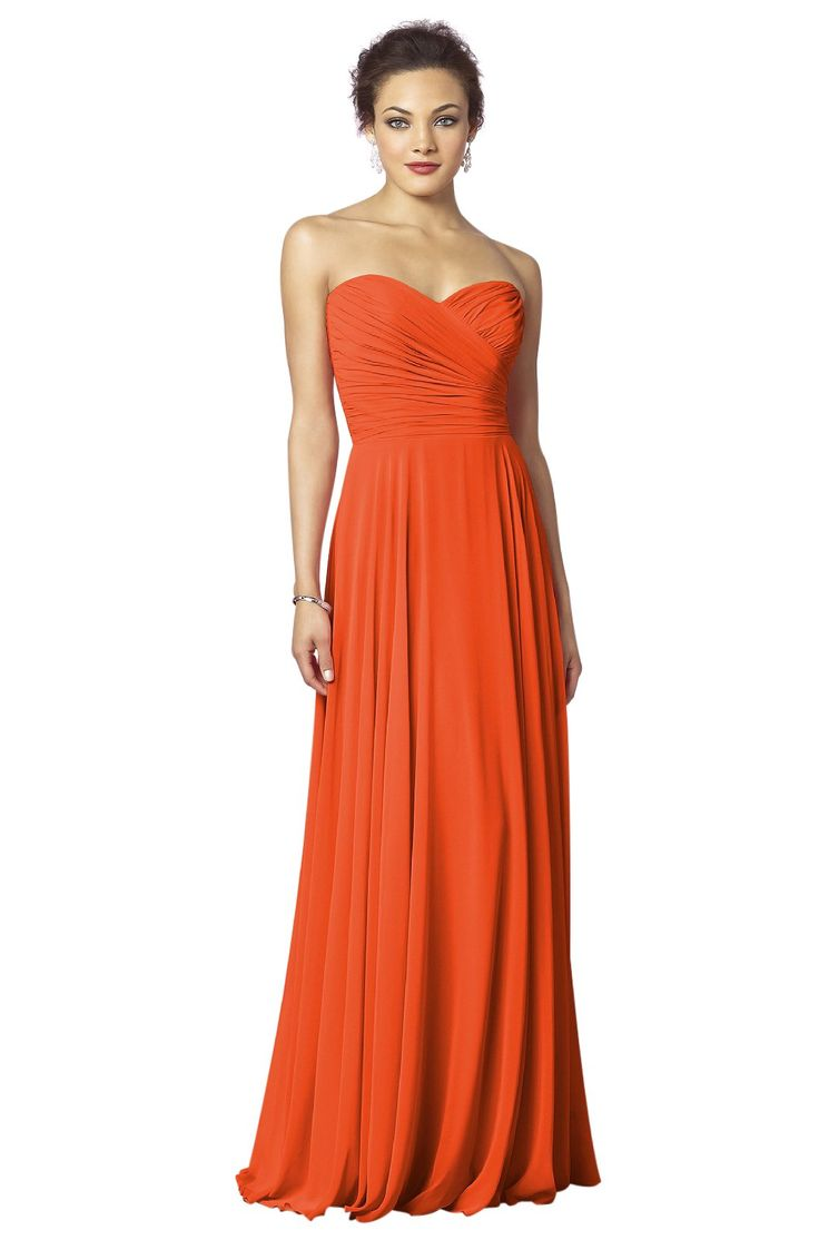 After Six Bridesmaid Dress   Weddington Way in Tangerine Tango