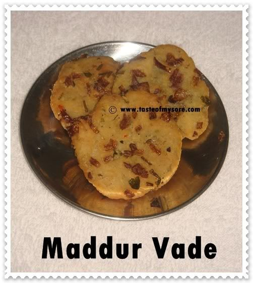 Taste of Mysore: Maddur Vade
