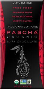Nut-free, Peanut-free, dairy-free, gluten-free and soy-free organic chocolate