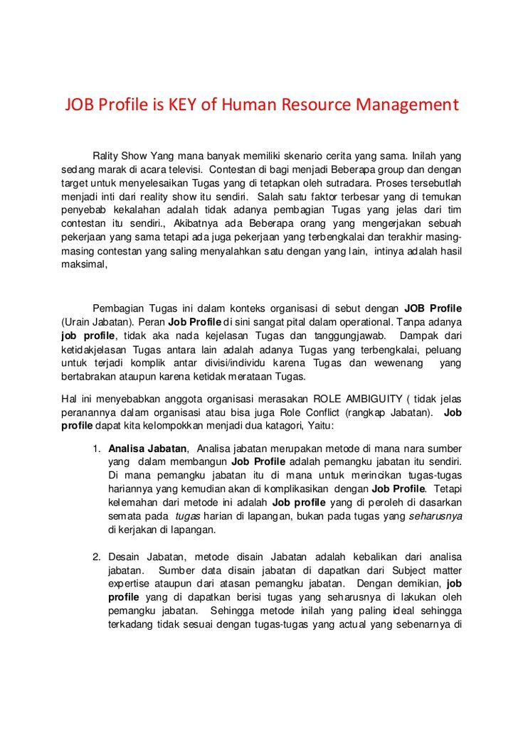 the-key-of-human-resource-management by Haliamsah Purba via - human resource management job description