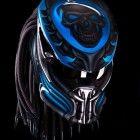Custom New Predator Motorcycle DOT Approved Helmet - Blue