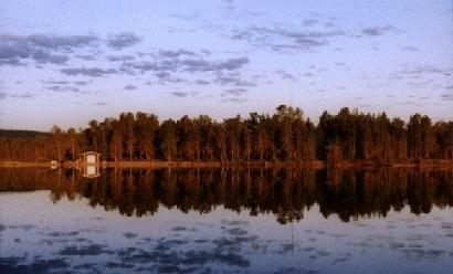 Lake Inari at midnight (photo AN)