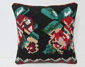 kilim pillow 18x18 decorative pillow designer pillow throw pillow rustic decor boho pillow accent pillow bohemian pillow floor cushion 25724