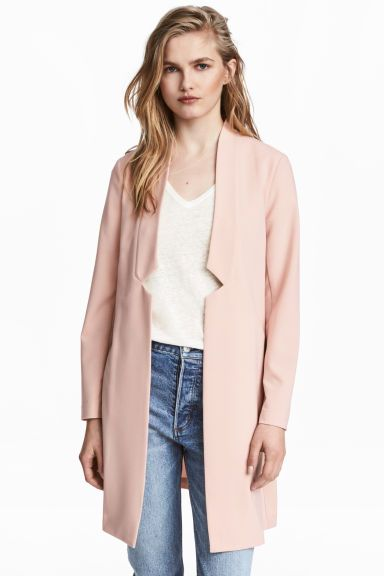 Blazer long - Rose poudré - FEMME | H&M FR 1
