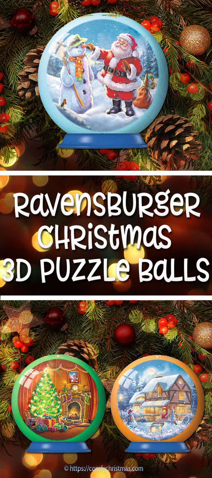 A 3D Ravensburger Christmas Puzzle Ball is not only fun to put together but also makes a cool Christmas ornament or decoration! These puzzle balls would make a neat Christmas Stocking Stuffers.