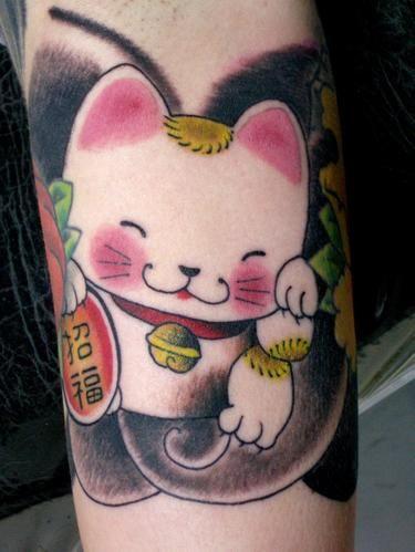 140 best happy cat images on pinterest maneki neko cat tattoos and kitty cats. Black Bedroom Furniture Sets. Home Design Ideas