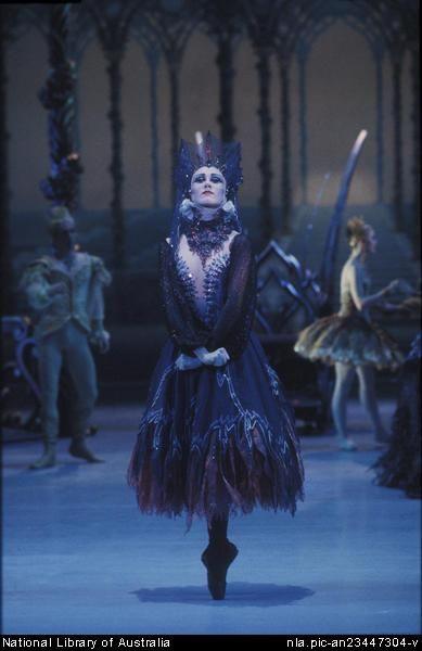 McMurdo, Don, 1930-2001. Ulrike Lytton as Carabosse in the Australian Ballet performance of The Sleeping Beauty, December 1984.